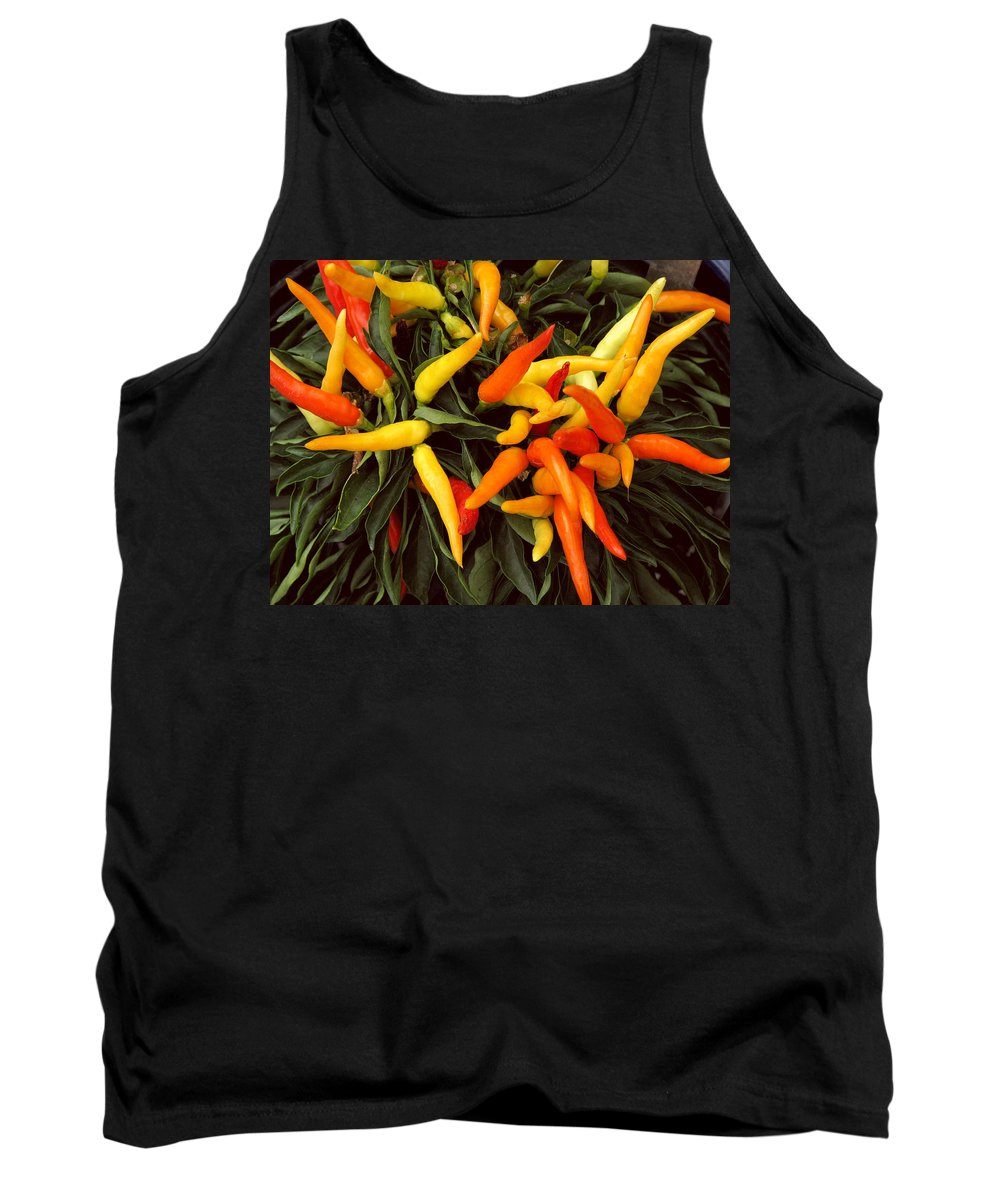 Peppers Tank Top featuring the photograph Hot by Peg Urban