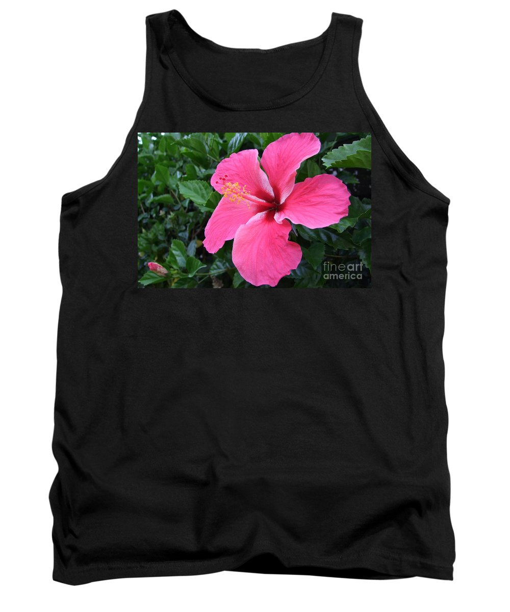Pink Tank Top featuring the photograph Hot Pink Hibiscus 1 by Mary Deal