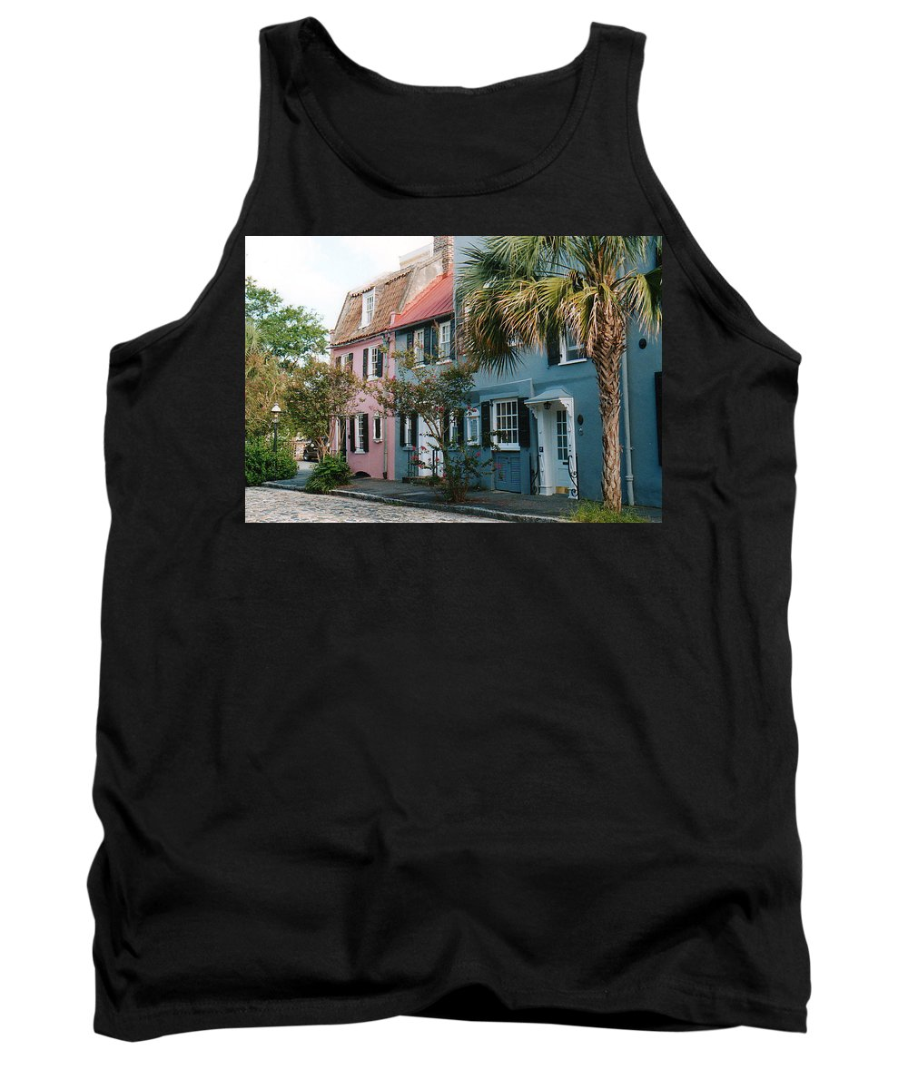 Photography Tank Top featuring the photograph Houses In Charleston Sc by Susanne Van Hulst