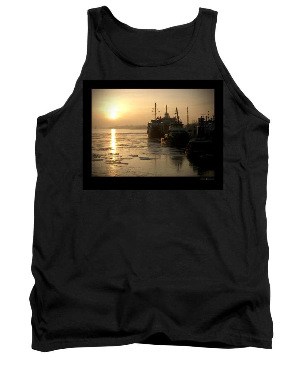 Boat Tank Top featuring the photograph Huddled Boats by Tim Nyberg