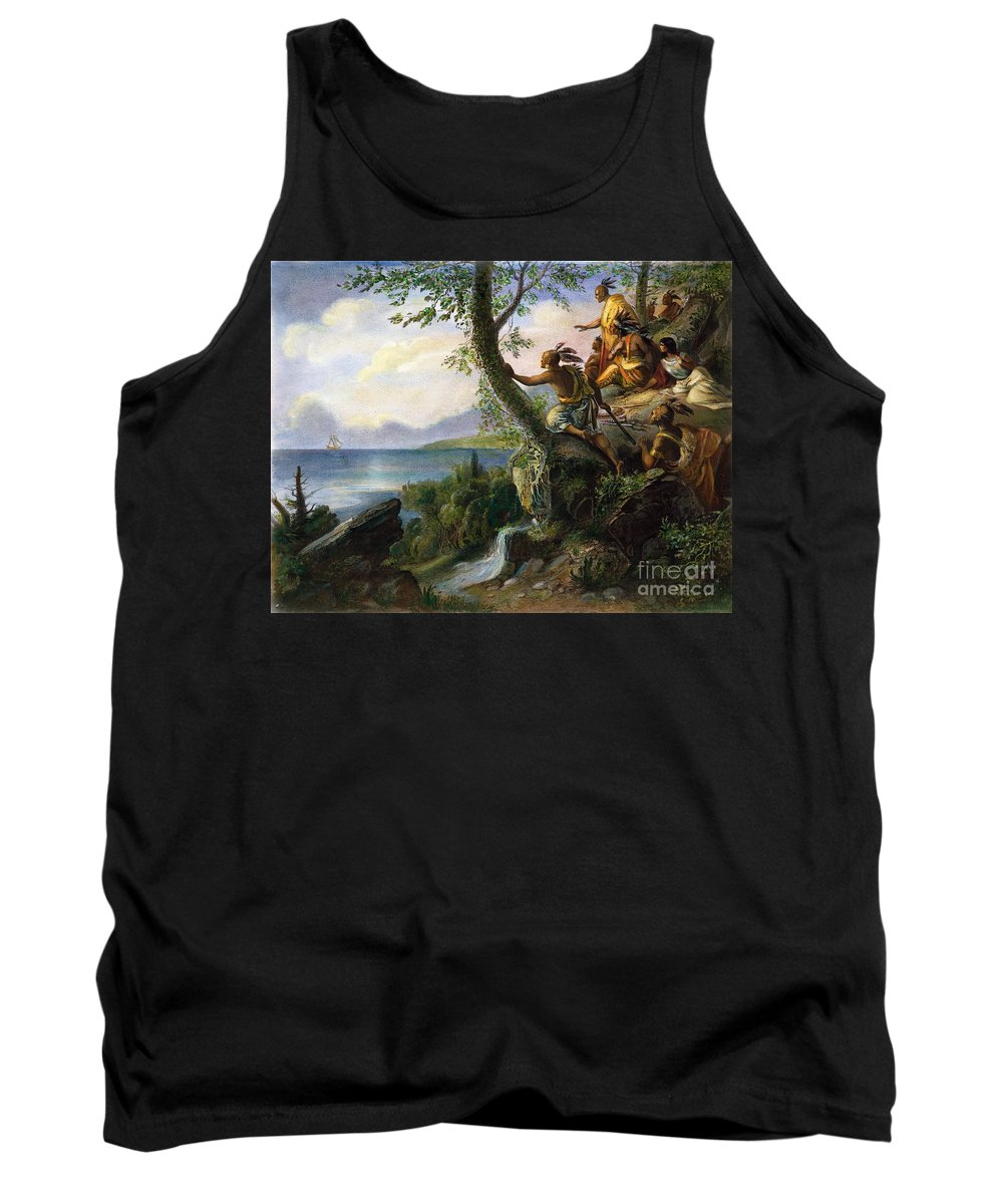 1609 Tank Top featuring the painting Hudson: New York, 1609 by Granger