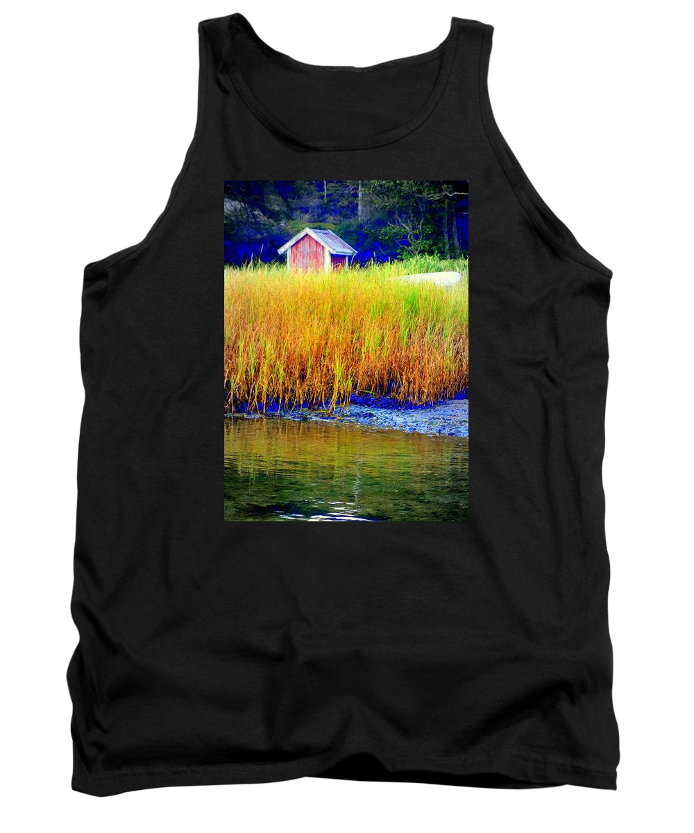 Mountain Tank Top featuring the photograph A Tiny Little Hut For Tiny Little People by Hilde Widerberg
