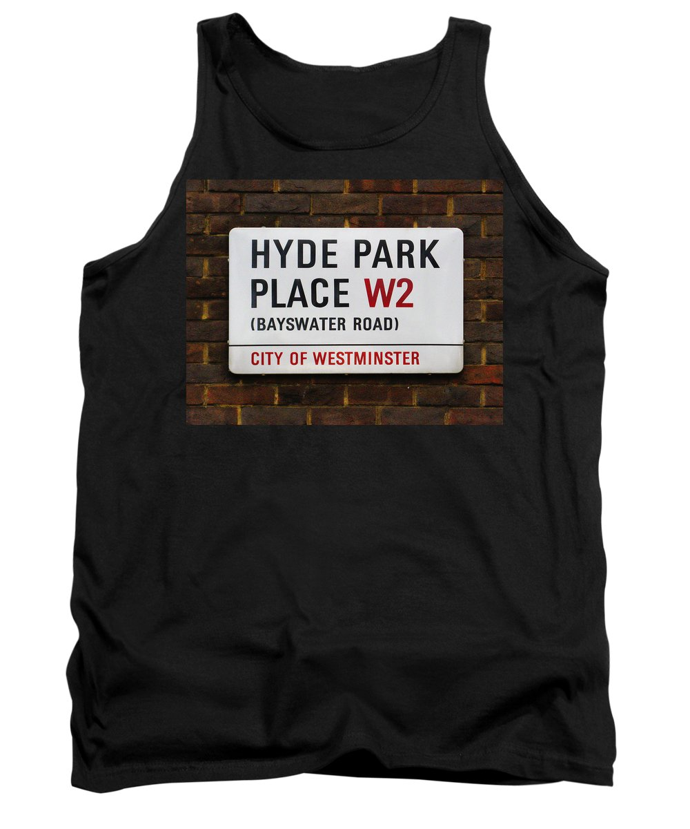 London Tank Top featuring the photograph Hyde Park Place by Osvaldo Hamer