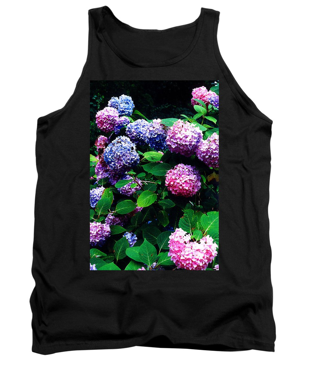 Flowers Tank Top featuring the photograph Hydrangeas by Nancy Mueller