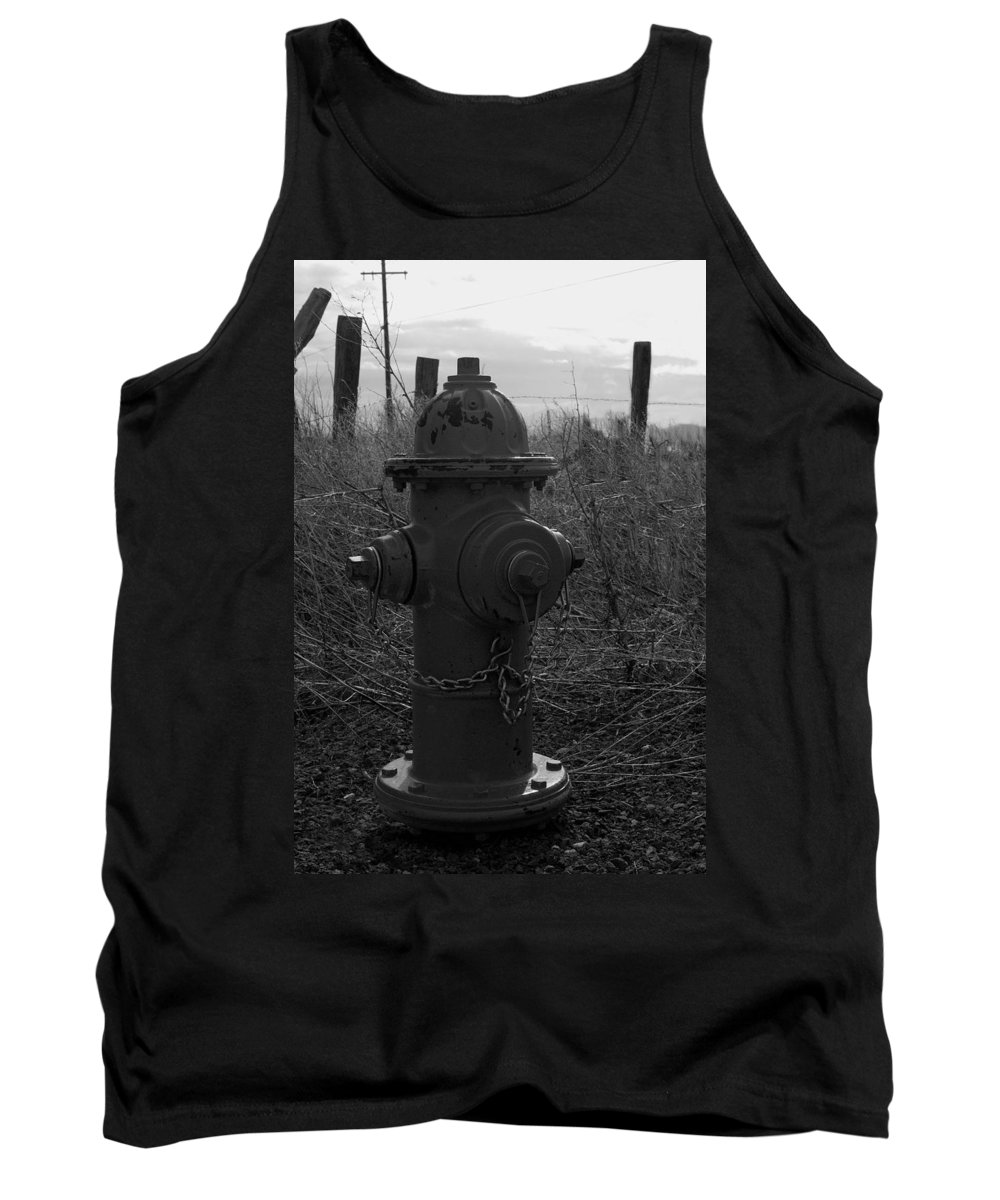 Fire Hydrant Tank Top featuring the photograph Hydrant by Sara Stevenson