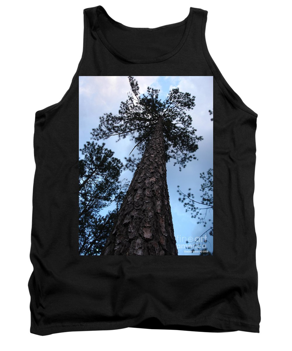 Tree Tank Top featuring the photograph I Can Touch The Sky.... Can You by Shelley Jones