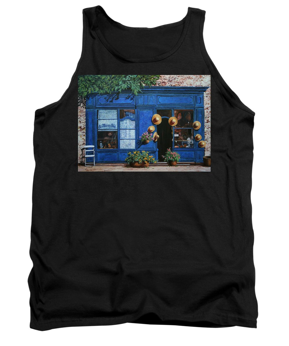 Shop Tank Top featuring the painting I Cappelli Gialli by Guido Borelli