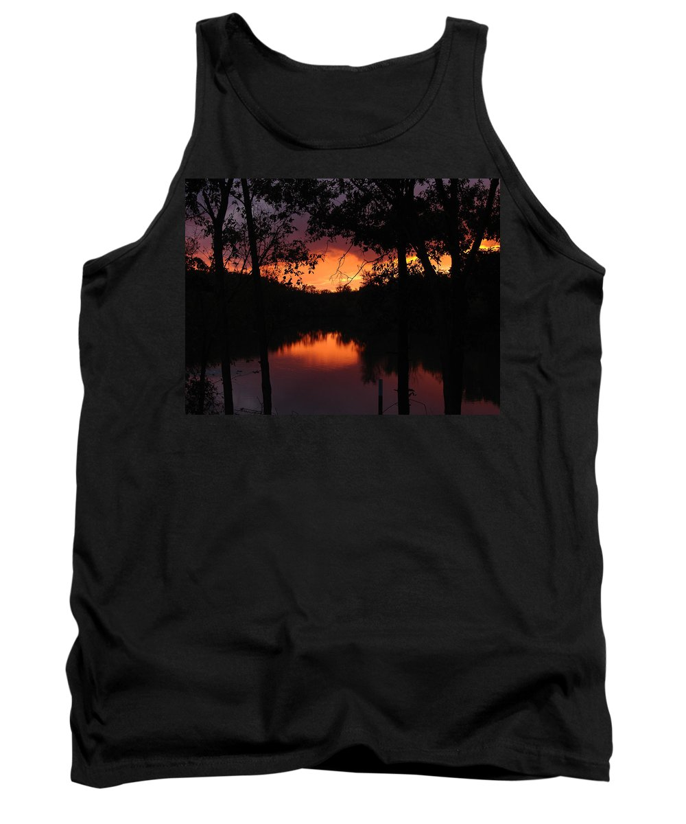 Sunset Tank Top featuring the photograph I Found Red October by J R Seymour