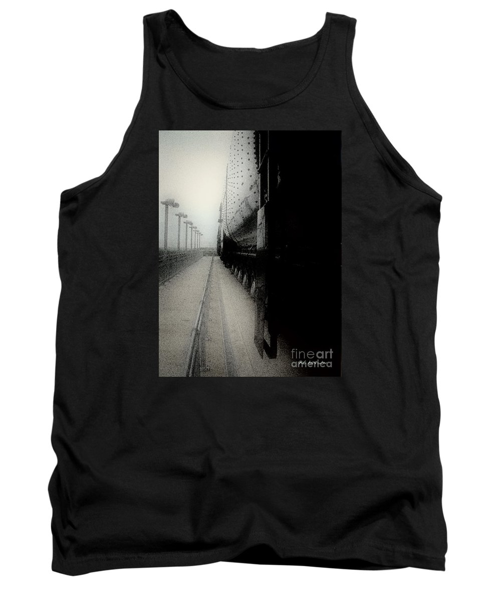 Train Tank Top featuring the digital art I Hear That Lonesome Whistle Blow by RC DeWinter