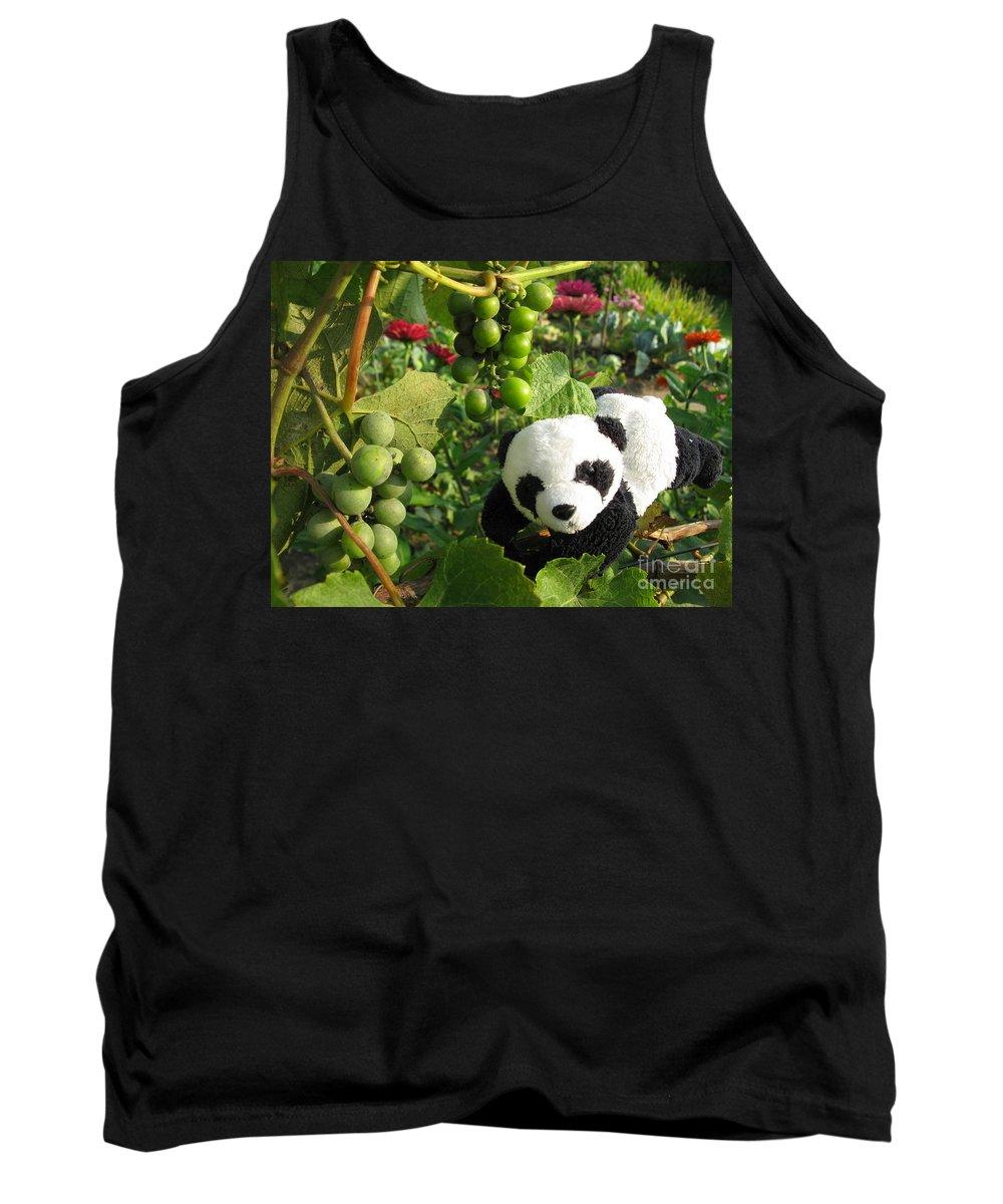 Baby Panda Tank Top featuring the photograph I Love Grapes B by Ausra Huntington nee Paulauskaite
