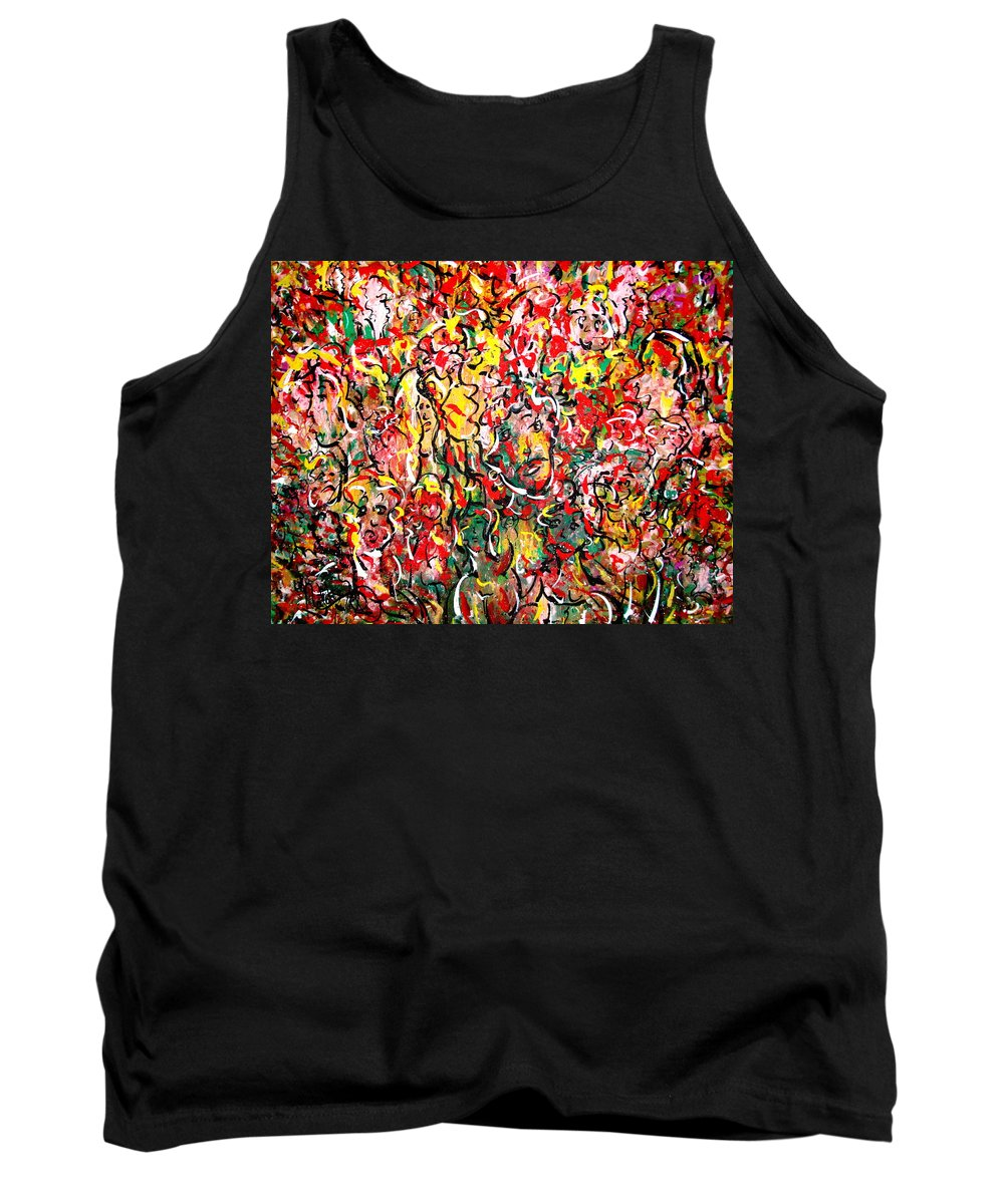 Party Tank Top featuring the painting I Love Natalie's Party by Natalie Holland