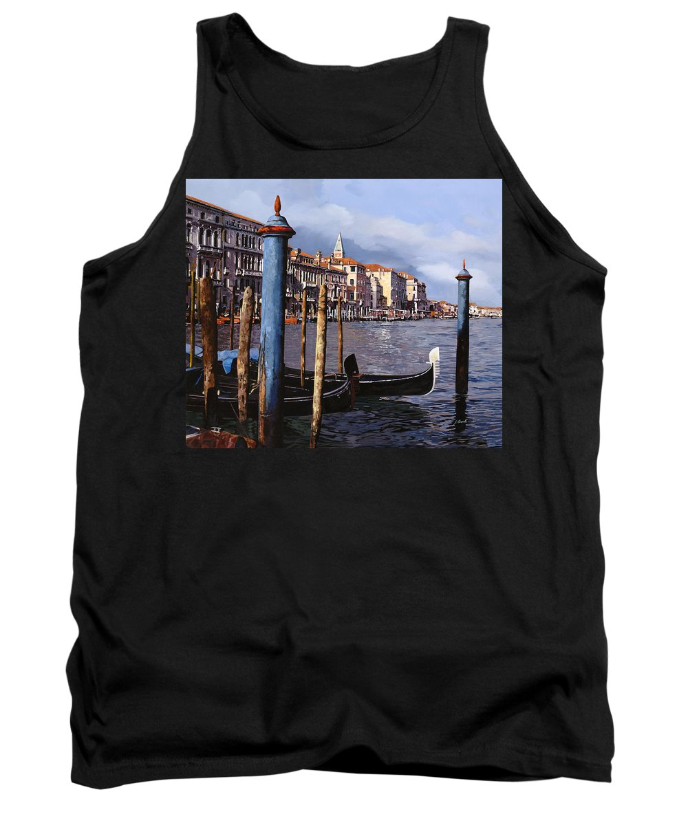 Venice Tank Top featuring the painting I Pali Blu by Guido Borelli