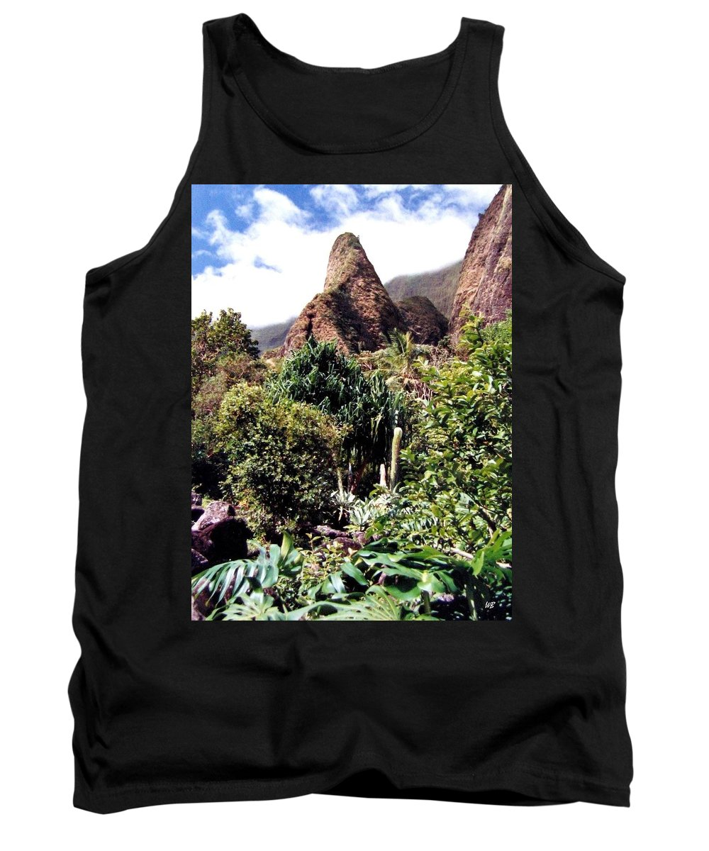 1986 Tank Top featuring the photograph Iao Needle by Will Borden