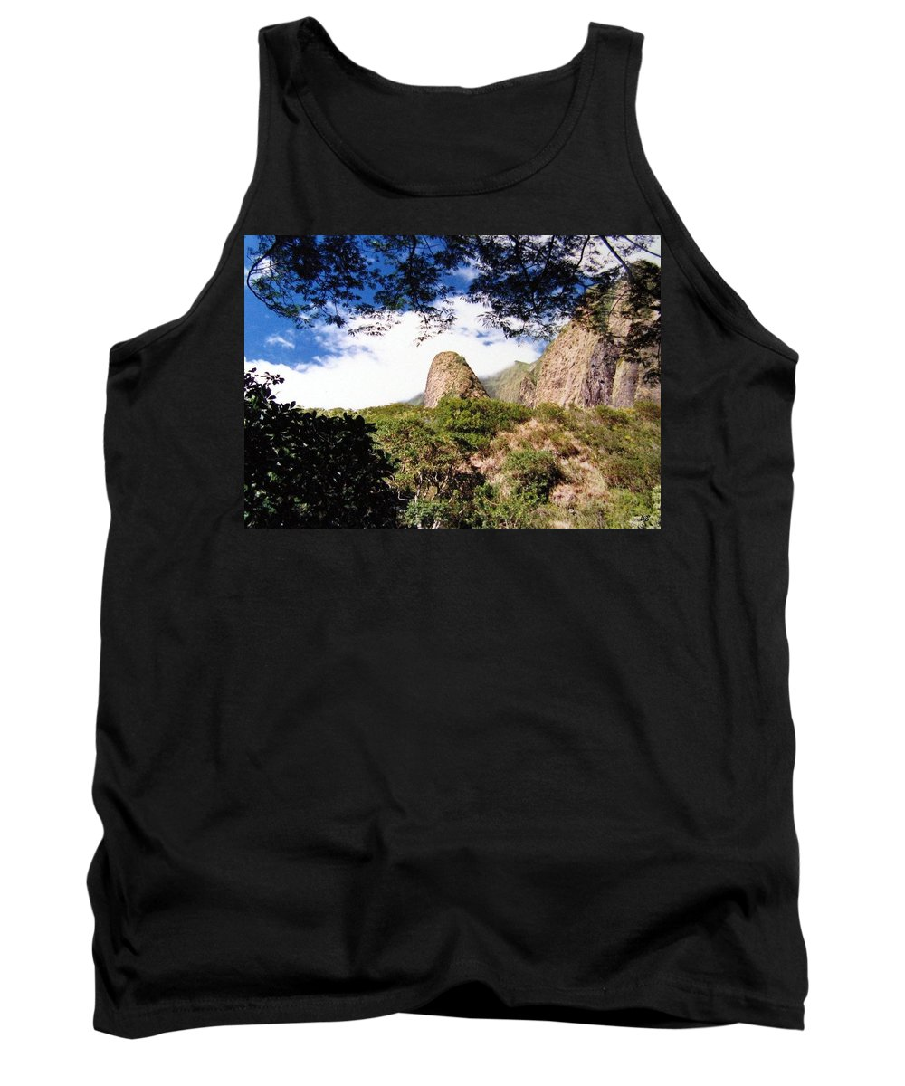 1986 Tank Top featuring the photograph Iao Valley by Will Borden