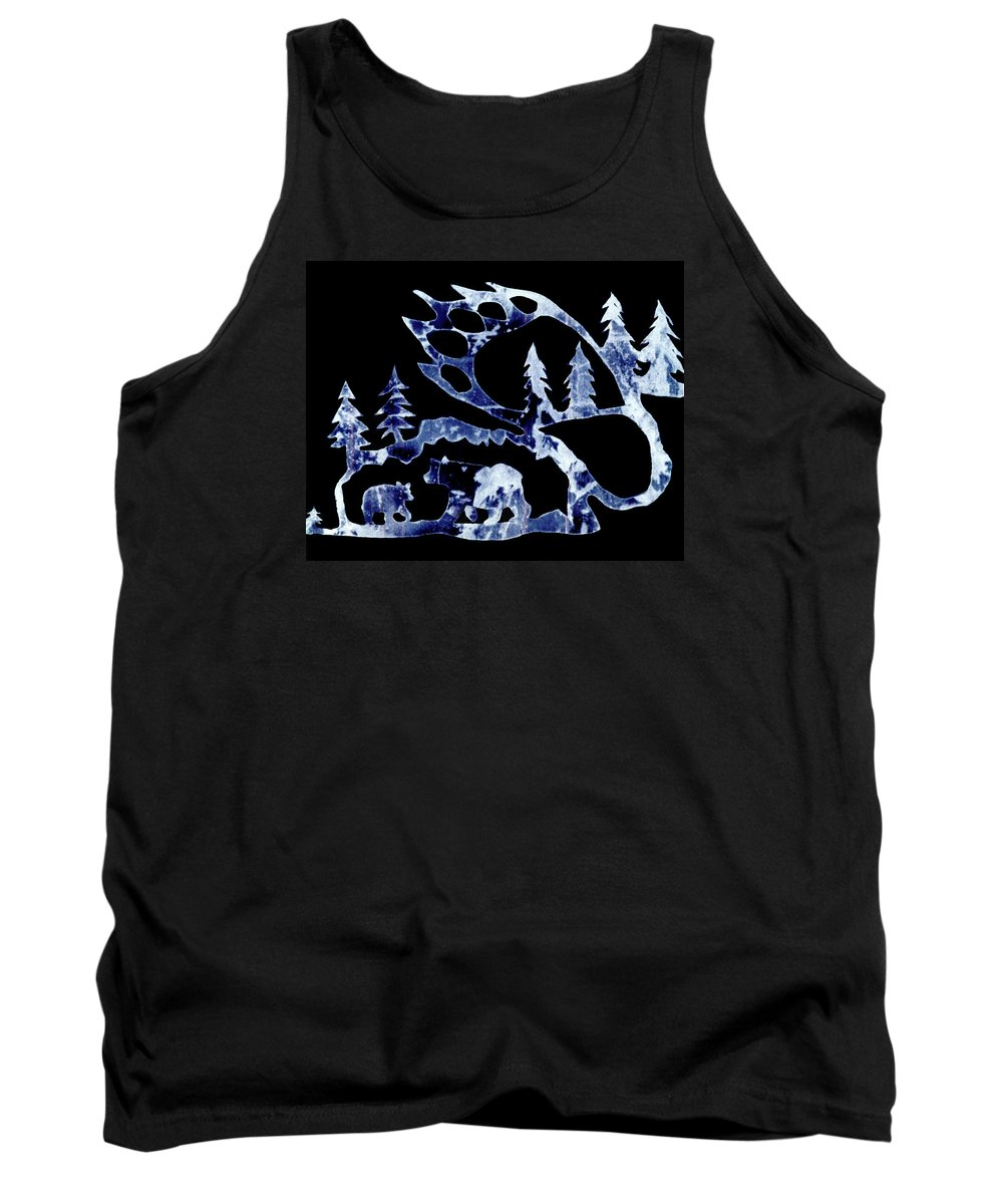 Bear Tank Top featuring the photograph Ice Bears 1 by Larry Campbell