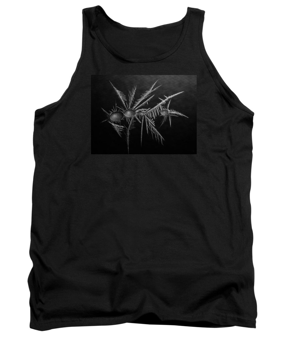 Winter Tank Top featuring the photograph Ice Crystals ... by Juergen Weiss
