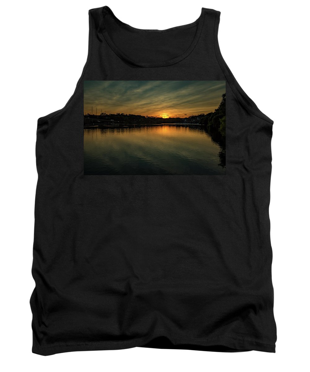 Evening Tank Top featuring the photograph Idyllic Philadelphia Sunset by Howard Roberts