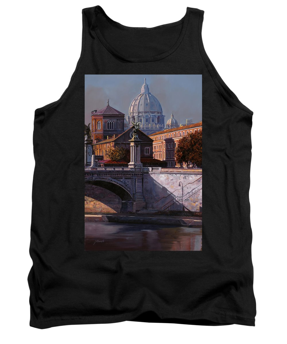 Rome Tank Top featuring the painting Il Cupolone by Guido Borelli