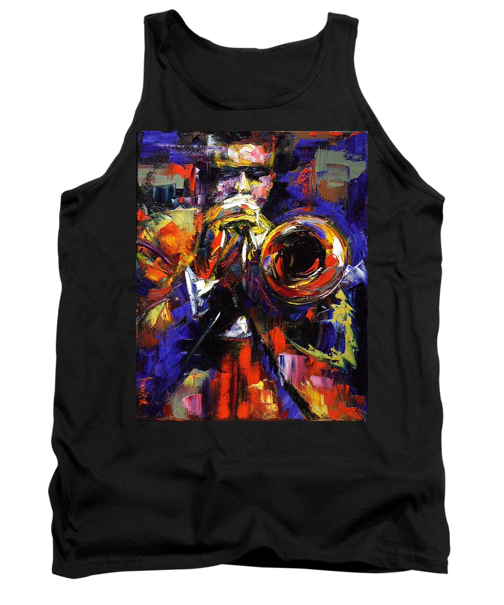 Trumpet Tank Top featuring the painting Improv by Debra Hurd