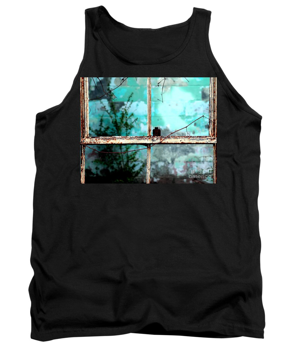 Windows Tank Top featuring the photograph In Or Out by Amanda Barcon