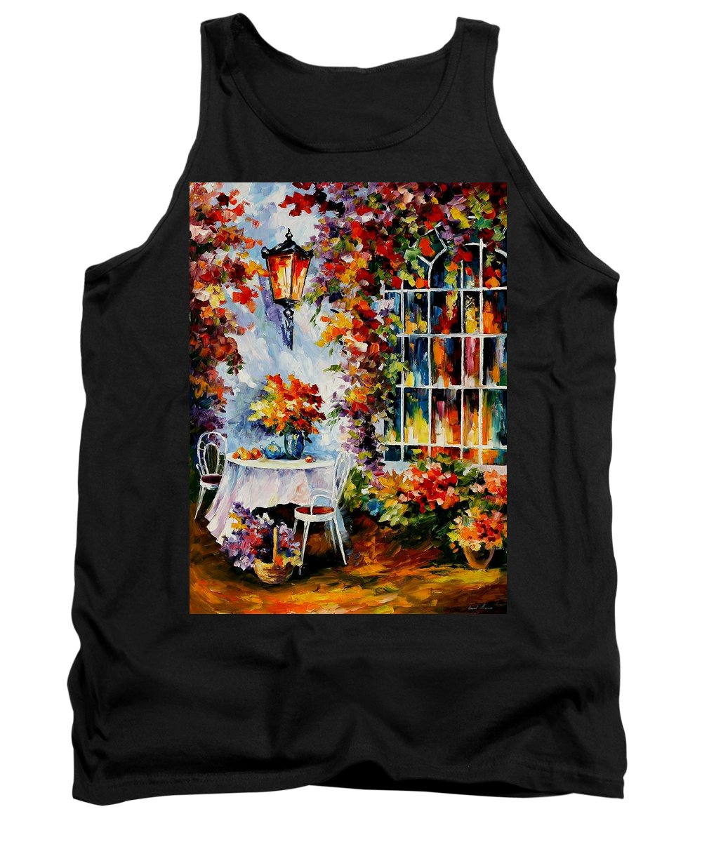 Afremov Tank Top featuring the painting In The Garden by Leonid Afremov