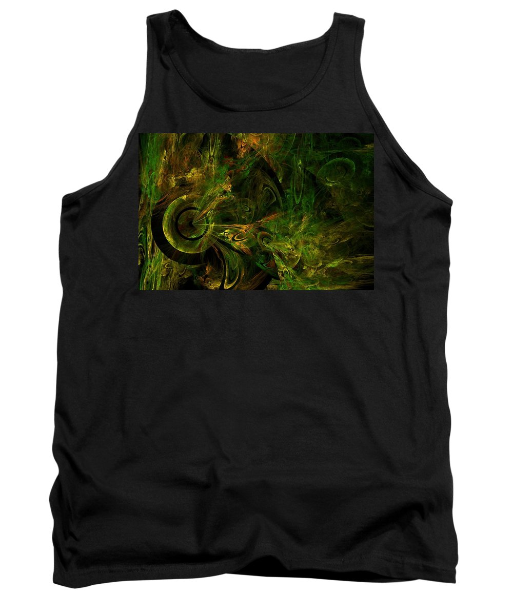 Fractal Tank Top featuring the digital art In The Valley Of Whoa by Lyle Hatch