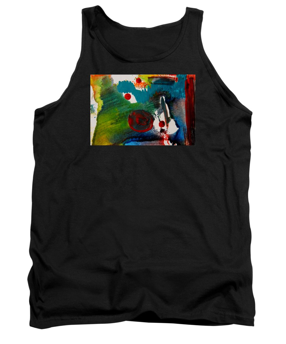 Abstract Tank Top featuring the painting In The Womb by Kruti Shah