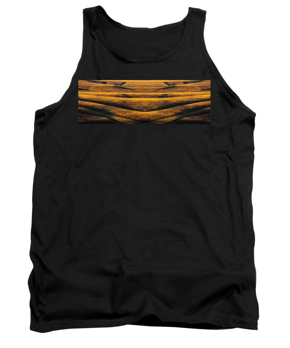 Flint Hills Tank Top featuring the photograph Industrial Prairie by Jeff Phillippi