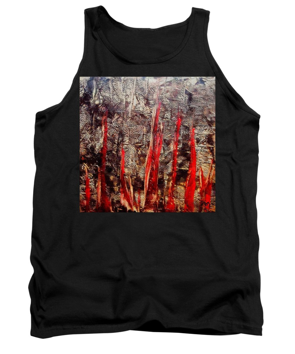 Inferno Tank Top featuring the painting Inferno by Dragica Micki Fortuna