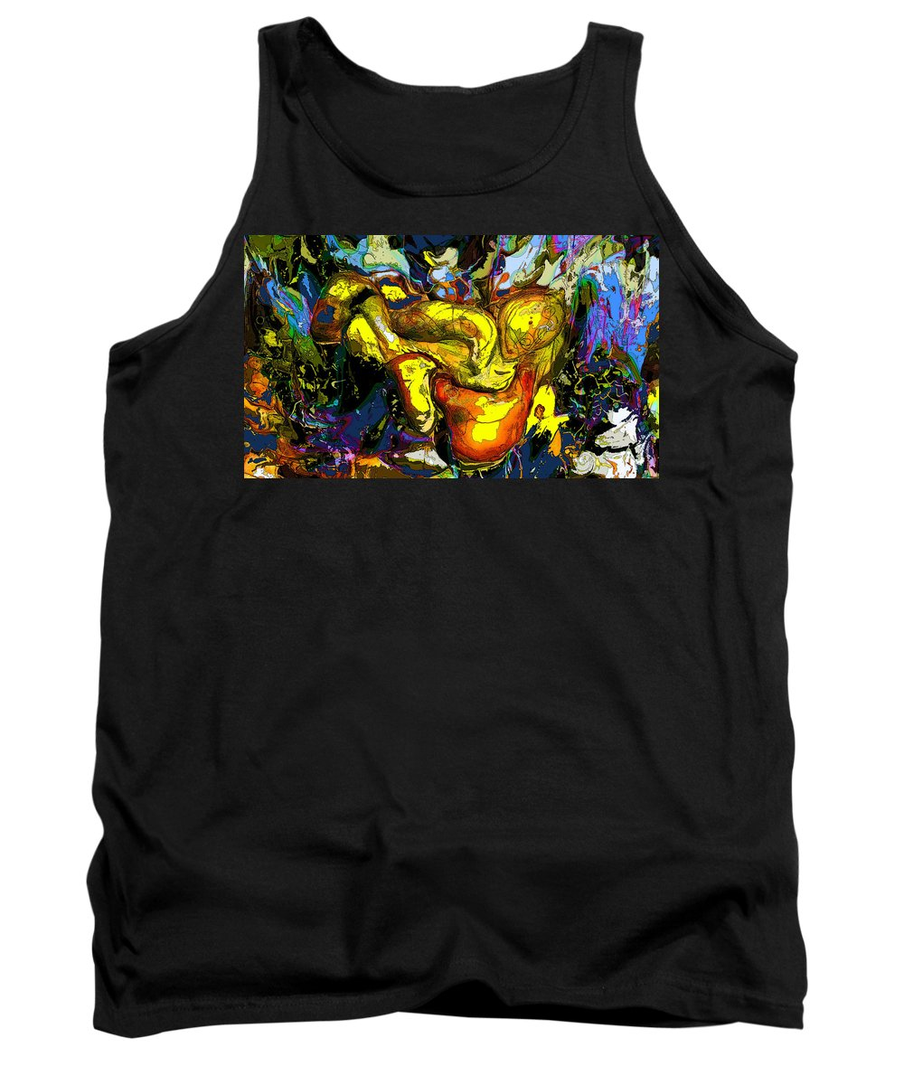Abstract Tank Top featuring the digital art Infinite Complexity One by Ian MacDonald