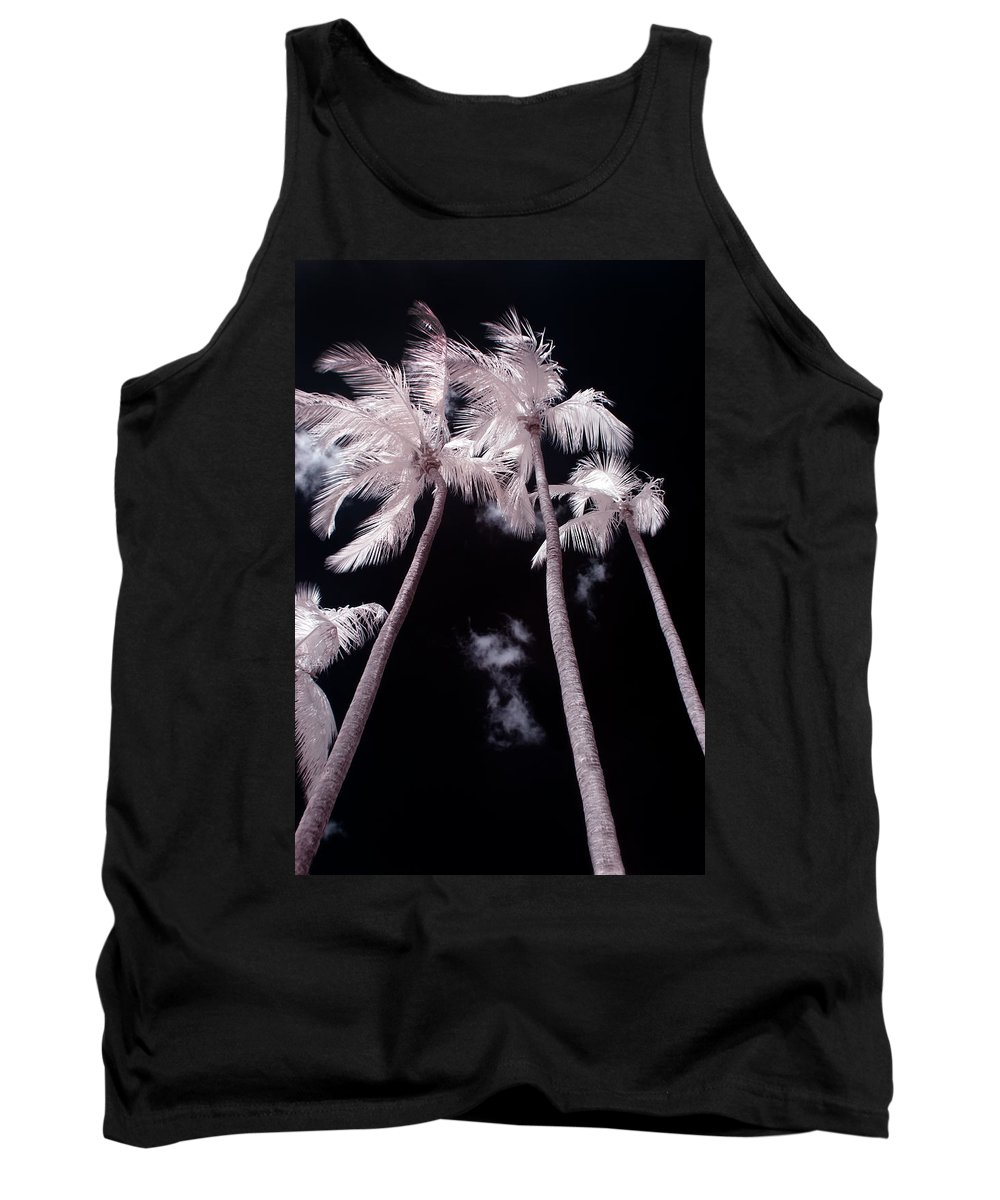 3scape Photos Tank Top featuring the photograph Infrared Palm Trees by Adam Romanowicz