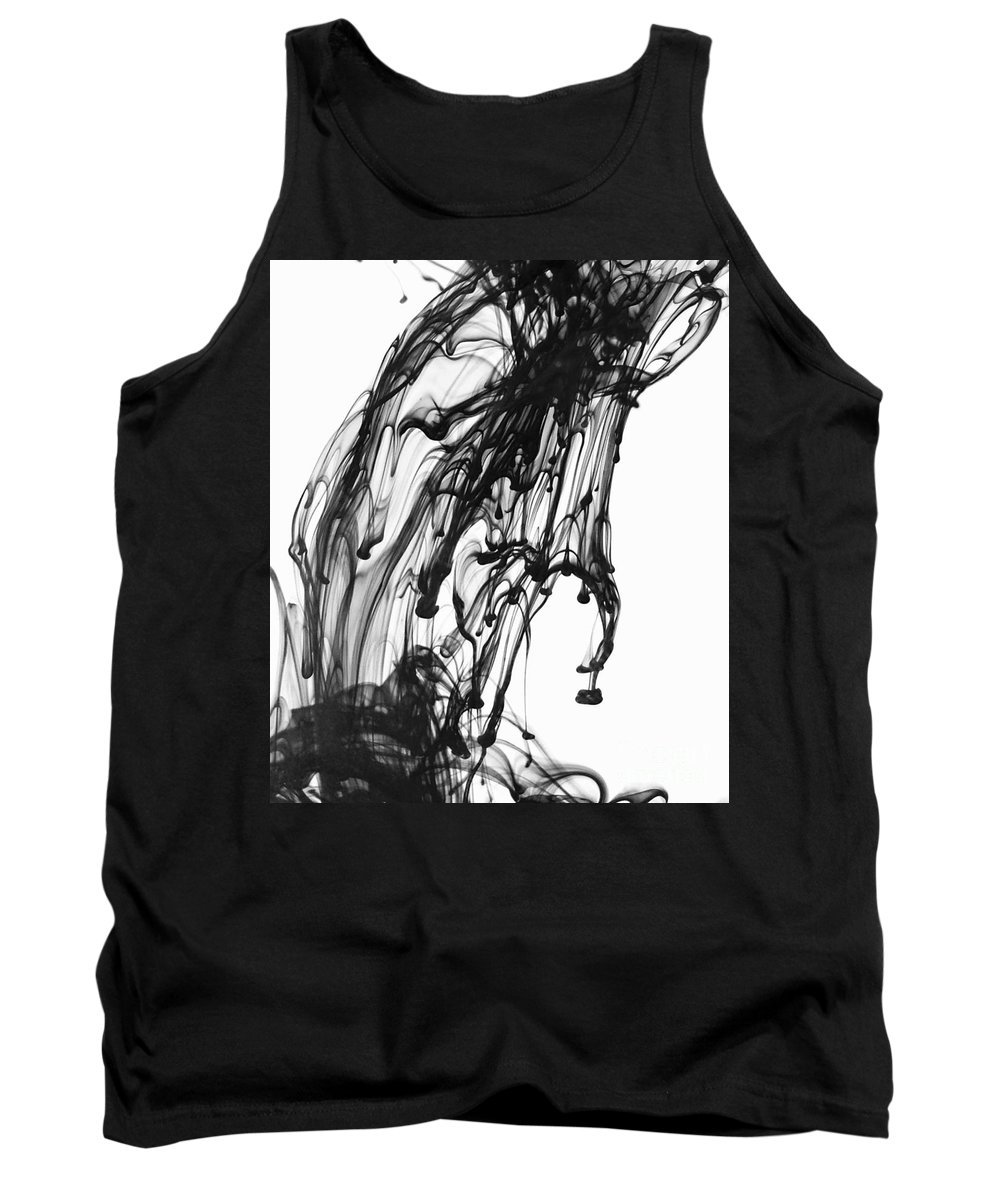 Black Tank Top featuring the photograph Ink by Julianne W