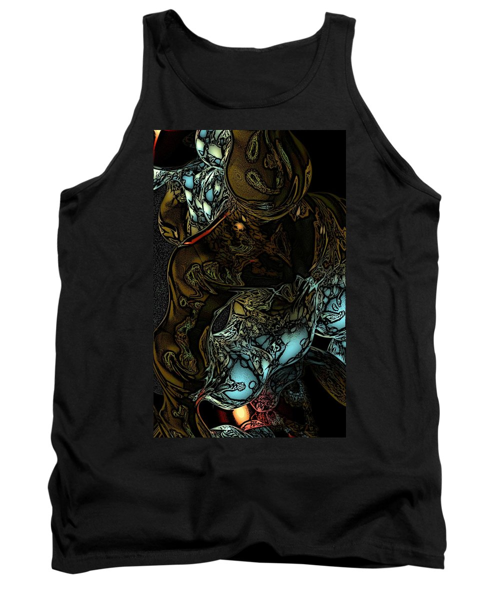 Abstract Tank Top featuring the digital art Inner Being by David Lane