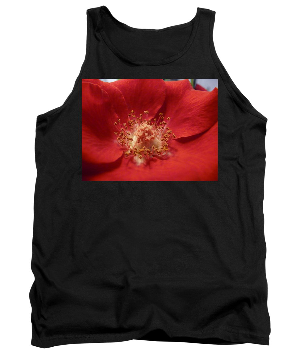 Rose Tank Top featuring the photograph Inside The Rose by Valerie Ornstein
