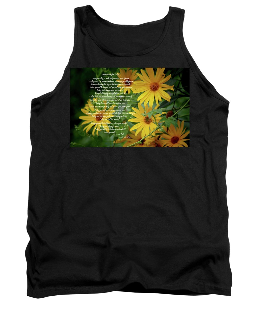 Sports Tank Top featuring the digital art Inspiration For Today Floral by Cathy Beharriell