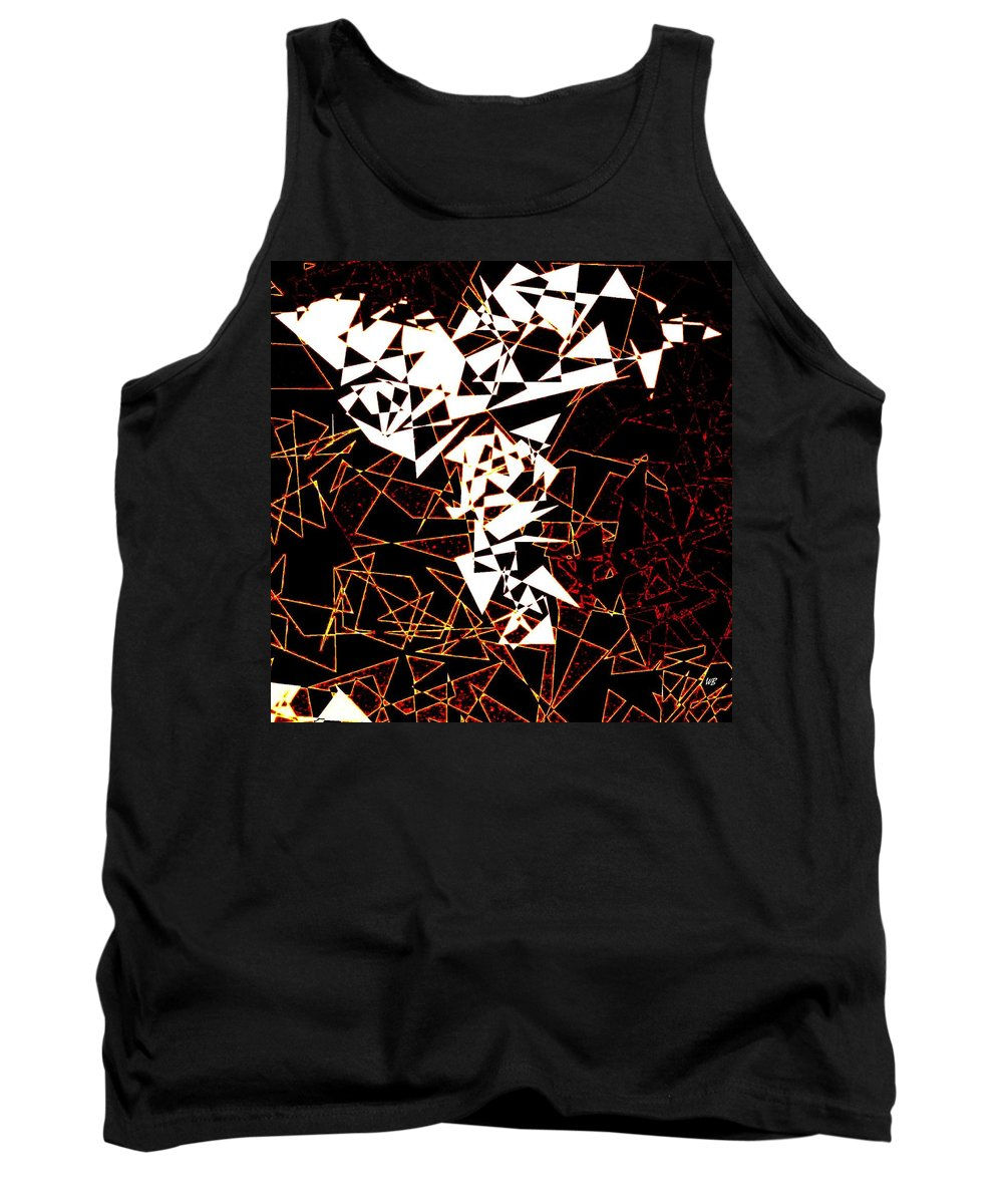 Abstract Tank Top featuring the digital art Interaction by Will Borden