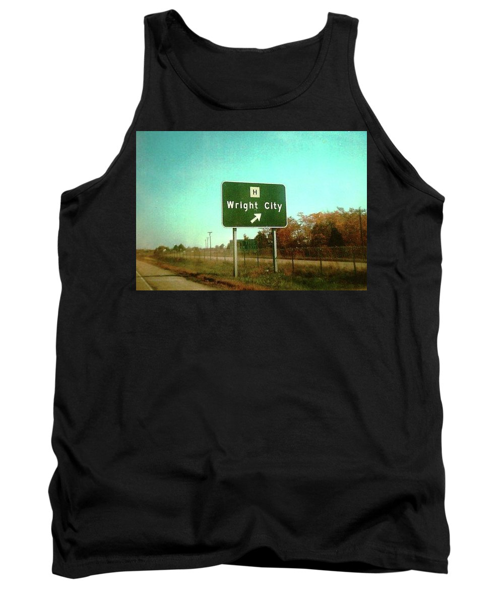 Wright City Tank Top featuring the photograph Interstate 70 West At Route H Exit, 1976 by Dwayne