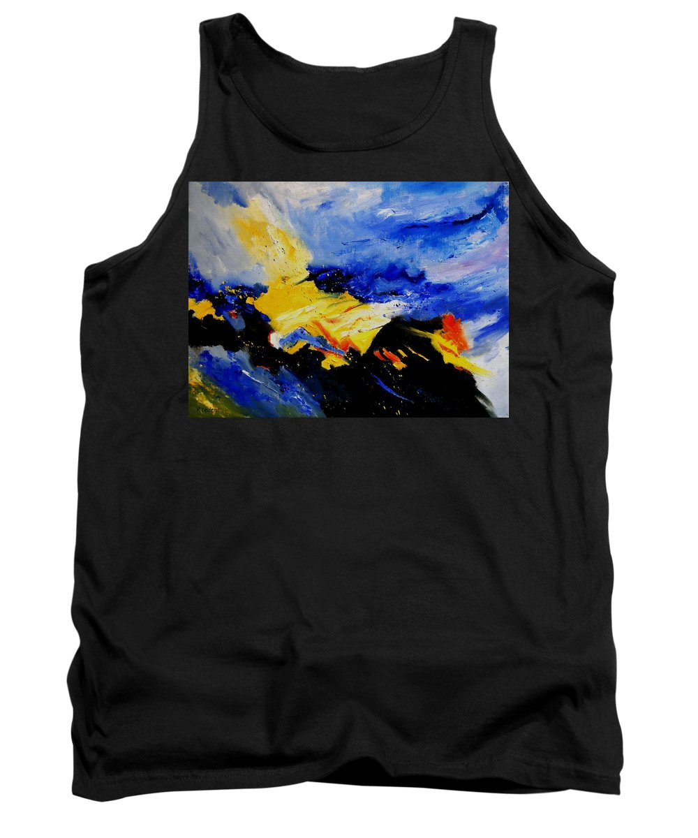 Abstract Tank Top featuring the painting Interstellar Overdrive 2 by Pol Ledent