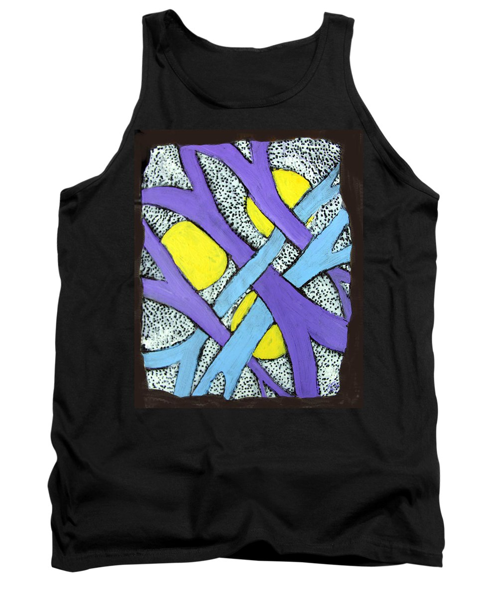 Abstract Tank Top featuring the painting Intertwined by Wayne Potrafka