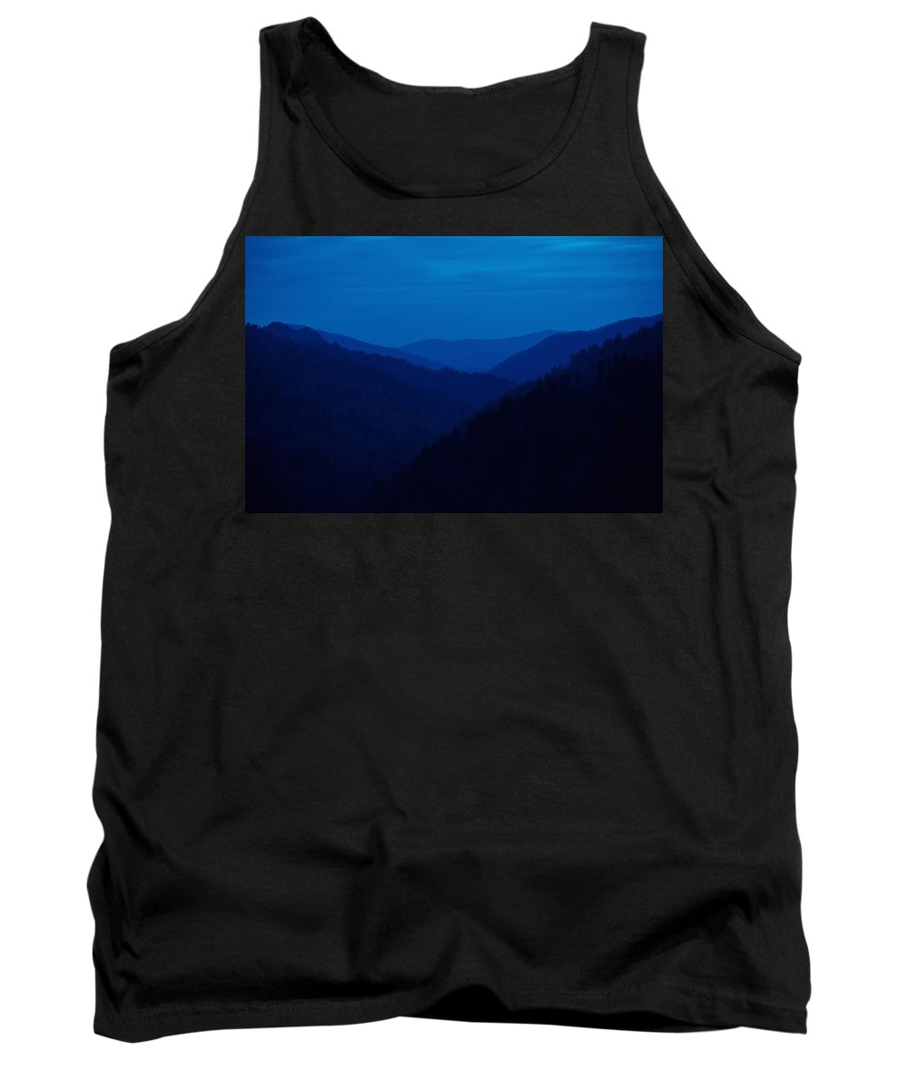Great Smoky Mountains Tank Top featuring the photograph Into The Blue by Rich Leighton