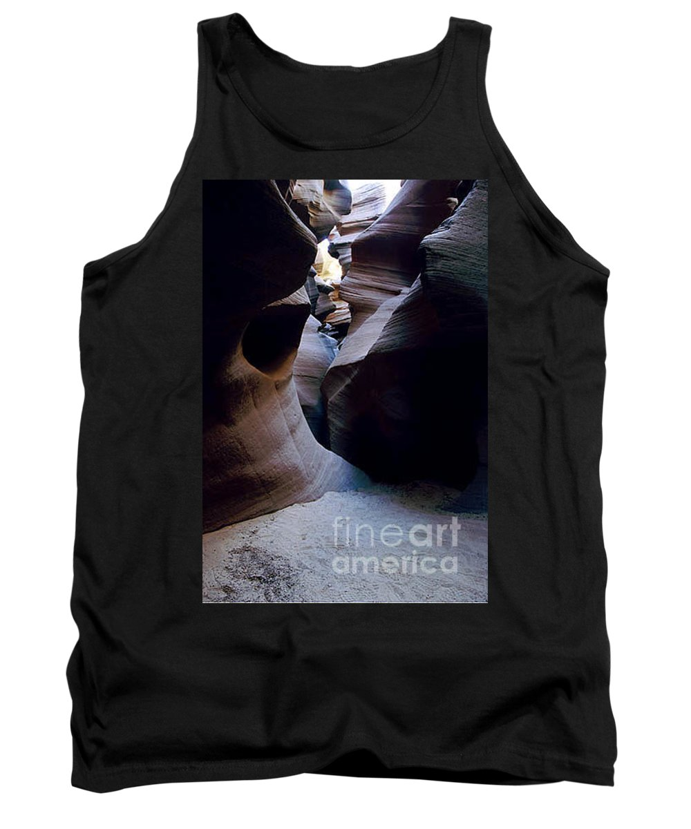 Slot Canyons Tank Top featuring the photograph Into The Depths by Kathy McClure