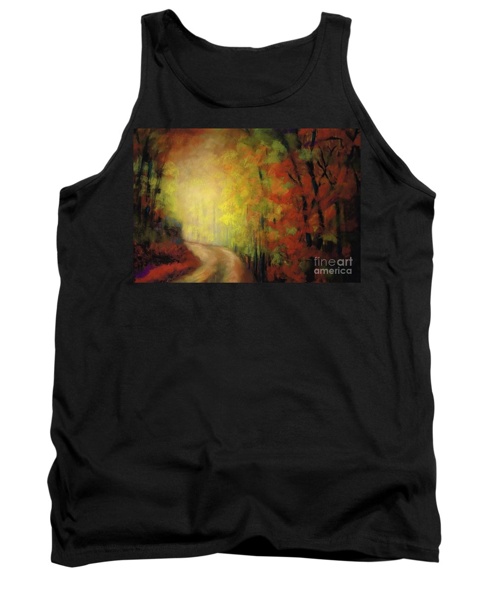 Landscape Tank Top featuring the painting Into The Light by Frances Marino