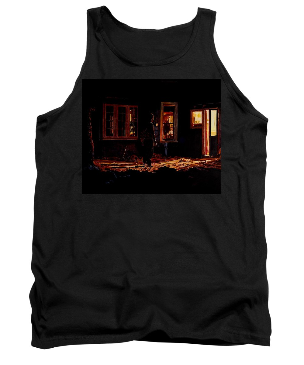 Night Tank Top featuring the painting Into The Night by Valerie Patterson
