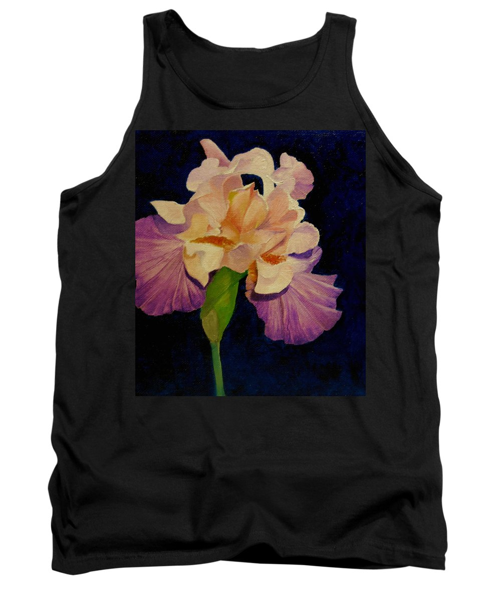 Floral Tank Top featuring the painting Iris by Peggy Guichu