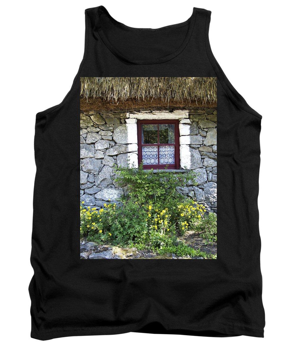 Irish Tank Top featuring the photograph Irish Cottage Window County Clare Ireland by Teresa Mucha