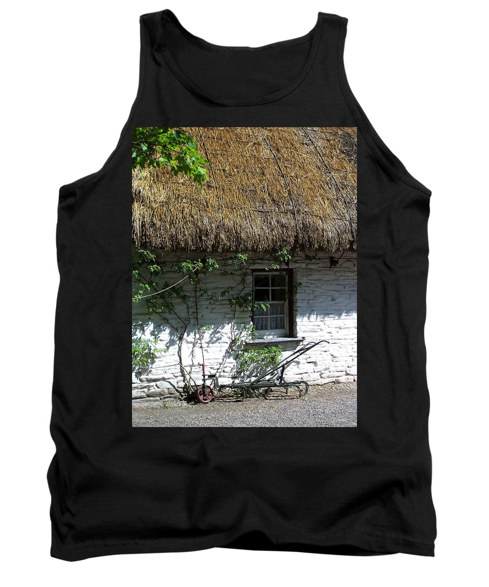 Irish Tank Top featuring the photograph Irish Farm Cottage Window County Cork Ireland by Teresa Mucha