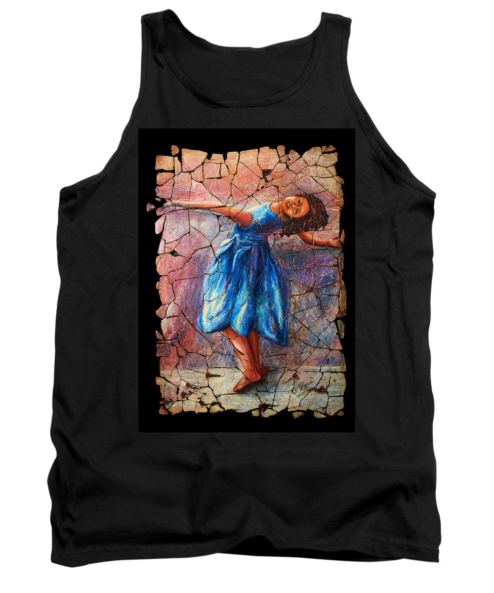 Isadora Duncan Tank Top featuring the painting Isadora Duncan - 1 by OLena Art Brand