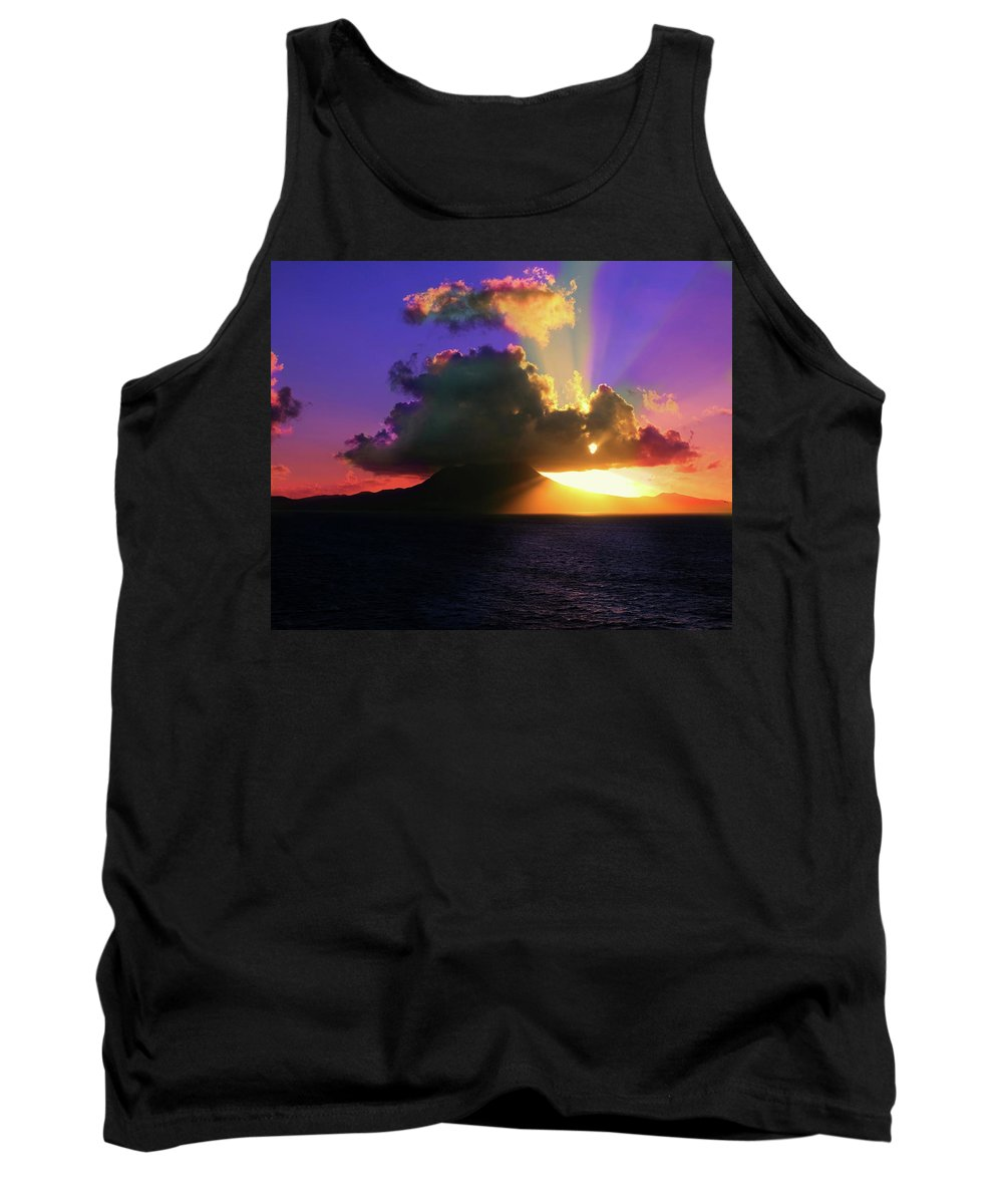 Island Tank Top featuring the photograph Island Sunrise by Perry Webster