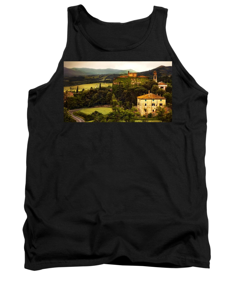 Italy Tank Top featuring the photograph Italian Castle And Landscape by Marilyn Hunt