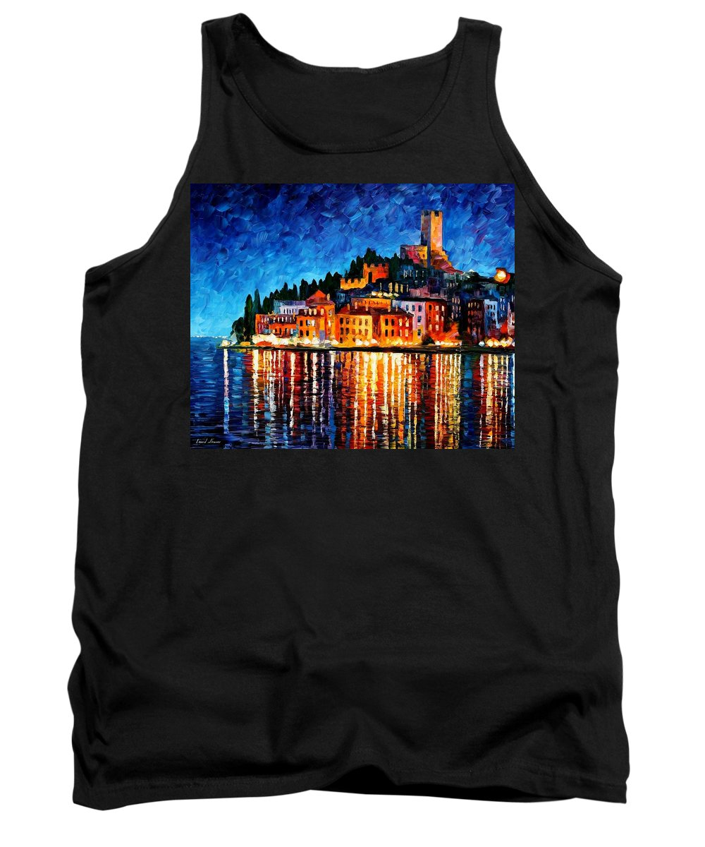 Afremov Tank Top featuring the painting Italy - Verona by Leonid Afremov